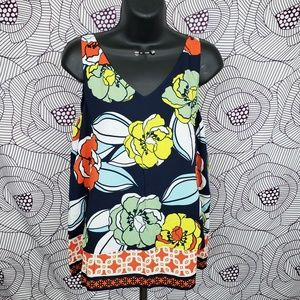NWT floral and geometric print tank top
